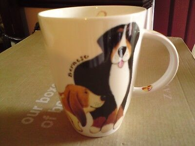 Roy Kirkham fine bone china woof mug - Dogs Walkies 2001, VGC, FREE-MAILING.