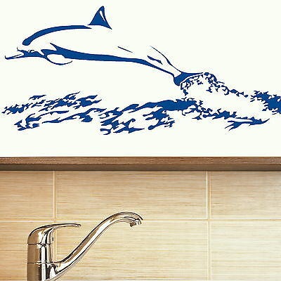 Dolphin Vinyl Wall Art Sticker / Large Decal Transfer / Art Graphic Stencil NE70