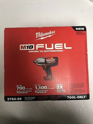 "(E) Milwaukee 2763-20 M18 FUEL 1/2"" High Torque Impact Wrench W/Ring (Tool Only)"