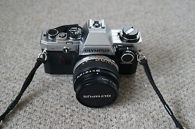 Olympus OM10 35mm with 50mm & 28mm lens, camera case, bag, flash and accessories