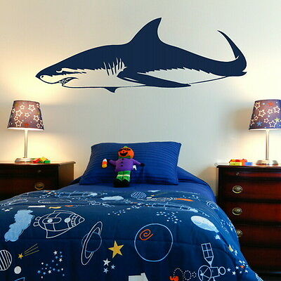 GREAT WHITE SHARK Vinyl wall sticker transfer graphic vinyl large decal fi16