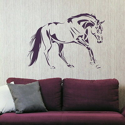 HORSE BEAUTIFUL JUMPING RIDING WALL ART STICKER kids vinyl stencil new HO10