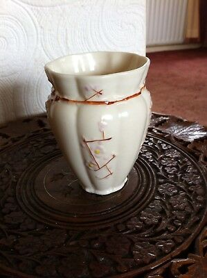 Unusual Belleek Vase 4.5""