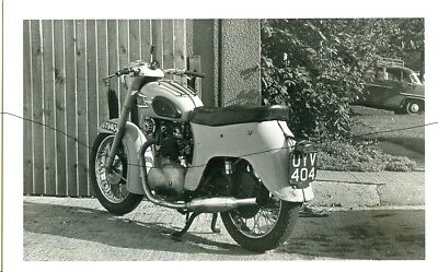 Motorbike Photo Photograph Of A Pre 1961 Moped On A Picture In England.