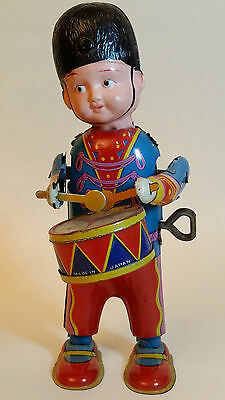 Tin toy & celluloid DRUMMER BOY Windup made in JAPAN prewar 1930's!