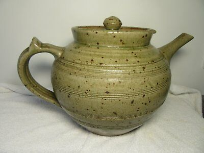 PHIL ROGERS VERY LARGE STONEWARE STUdIO WELSH TEAPOT
