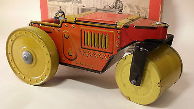 Tin toy METTOY wind up mechanical ROAD ROLLER Great Britain MIB 1940's
