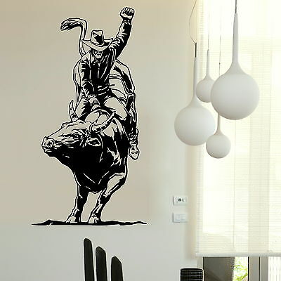 Bull Fighting Vinyl Decal / Art Decor Transfer / Removables Vinyl Decals RA35
