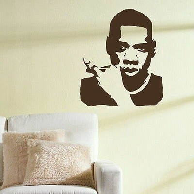 Jay Z - Celebrity Wall Sticker /Interior Wall Decor Celeb Wall Transfer nic10