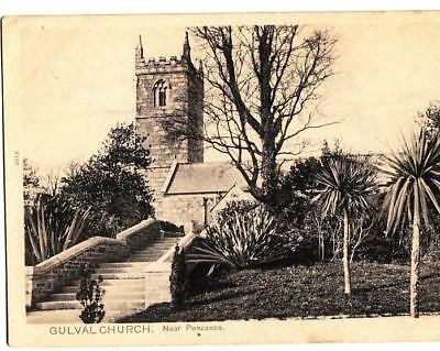 C86. Vintage Postcard. Gulval Church near Penzance, Cornwall.