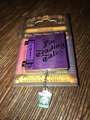 Disneyland 2017 Disney Haunted Mansion Hatbox Ghost Trading Tales Book LE Pin