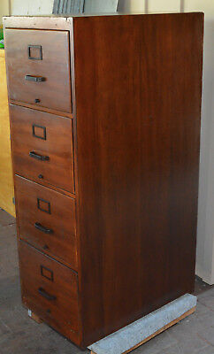 GLOBE WERNICKE Walnut (stained) 4 drawer Legal File Cabinet  LOCAL PICK-UP ONLY*