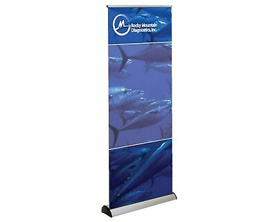 Retractable Banner Floor Stand 31.5x78 with Carry Case New Never Used