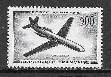 FRANCE - 1957.  AIR - 500f. Caravelle,  MNH.  Cat £47