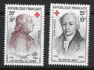 FRANCE - 1959.  Red Cross Fund - Set of 2, MNH