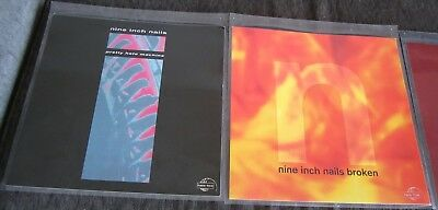"*RARE* 2006 Nine Inch Nails NIN ""THE SPIRAL"" Six Album COVERS 12""X12"" NICE L@@K!"