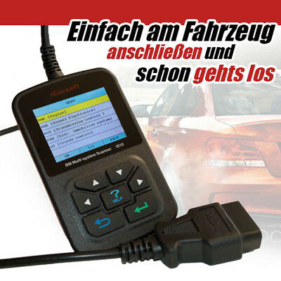 iCarsoft i910 BMW Diagnosegerät alle Fehler aus Motor Getriebe ABS Airbag usw...