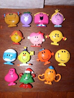 Bundle Mr Men and Little Miss toy figure playset Christmas Chatterbox Bump Tickl