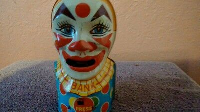 Vintage Clown Mechanical Bank, J. Chein and Co.