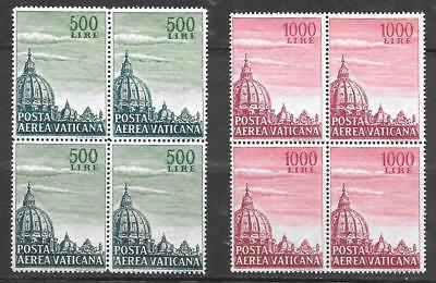 "VATICAN - 1958 AIR ""Dome of St. Peter's - Set of 2 - MH Blks/4"
