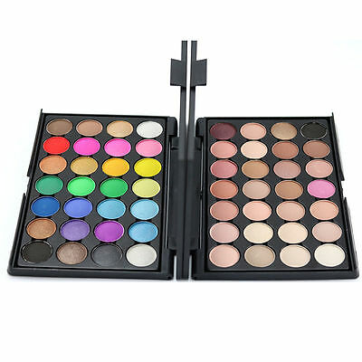 28 Colors Eyeshadow Palette Smokey Makeup Eye Nude Cosmetic Chocolate FF