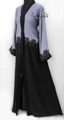 Abaya Dubai Nidha Lace Design with Pearls Jilbab