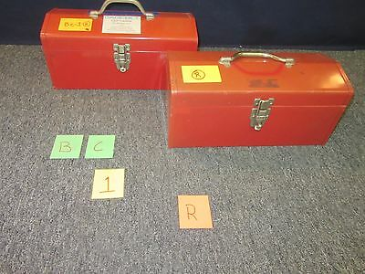 "2 Gage Bilt Rivet Kit 16"" Red Metal Toolbox Shop Machine Military Scratched Bc1R"