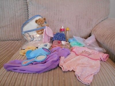 zapf creation baby annabell outfit & feeding bottle & dolls accessories