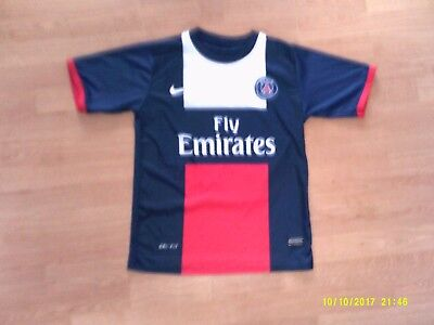 Nike Navy Blue & White '10 Ibrahimovic' Paris Saint Germain football shirt