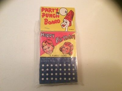 1970's Party Punch Board - Sealed