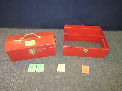 "2 Gage Bilt 16"" Red Metal Toolbox Shop Machine Rivet Kit Military Scratched Bc1Q"
