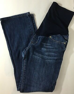 Women's Liz Lange Maternity Denim Blue Jeans Size 2 w/ belly band
