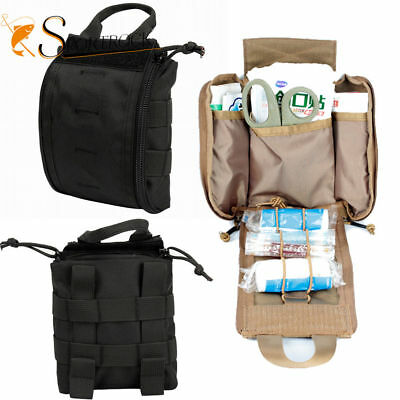1000D Molle Tactical First Aid Kid Utility Medical Accessory Bag Pouch Black EMT