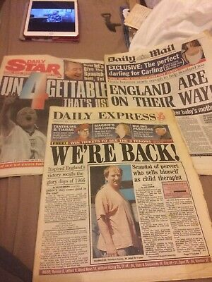 VINTAGE NEWSPAPER Daily Star Daily Star Express June 1996 England Euros