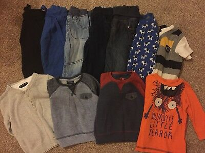 Bundle 11 Boys Items 5 Bottoms 6 Tops Age 9-12 Months Next