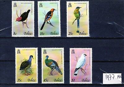 BELIZE 1977 Birds set of 6 complete MINT NH