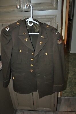 WW2 U.S. ARMY Air Corps Europen command Captain Medical tunic Dated1944