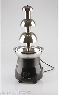 New Stainless Steel 3 Tiers Height 55CM Home Use Mini Chocolate Fountains