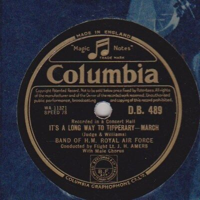 Band Of Hm Royal Airforce: It's A Long Way To Tipperary / Sussex By The Sea. 78