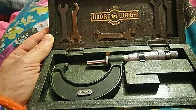 Moore and Wright vintage Micrometer