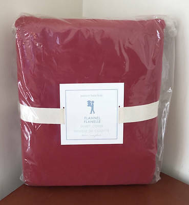 Pottery Barn Kids Solid Flannel Duvet Cover~Twin~Red