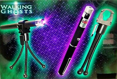 Ghost Hunting Paranormal Equipment Kit PURPLE LASER GRID PEN 5MW + HOLDER+TRIPOD