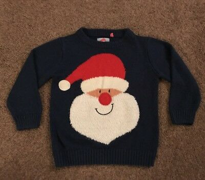 Boys Christmas Jumper Size 4-5 Years - Good Condition
