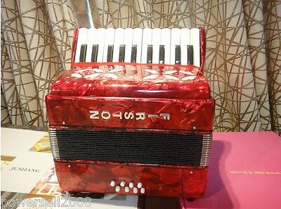 Professional 22 Key 8 Bass Red Children Musical Instruments Accordion