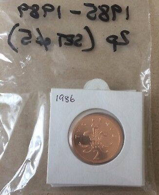1985 To 1989 - 5x's 2p Two Pence Proof Coin, 5 Concurrent Years.