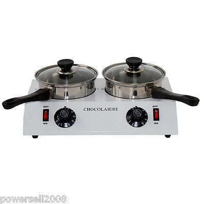 White Chocolate Melting Pot Double Pots Commercial Chocolate Melter Machine