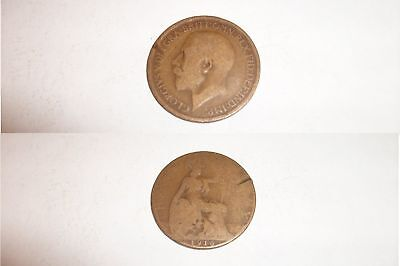 Half Penny Coin 1916 George V