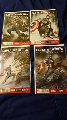 Marvel's Captain America: Living Legend #1-4 (2013) Complete