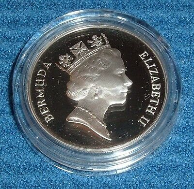 1992 Bermuda Two Dollar Proof Silver Coin