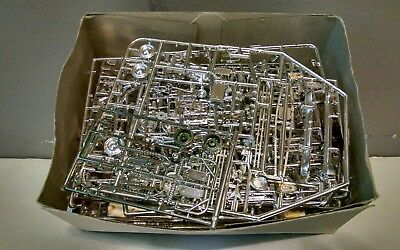 Huge Lot Of Chrome Model Car/truck Parts 1/24 Or 1/25 Scale